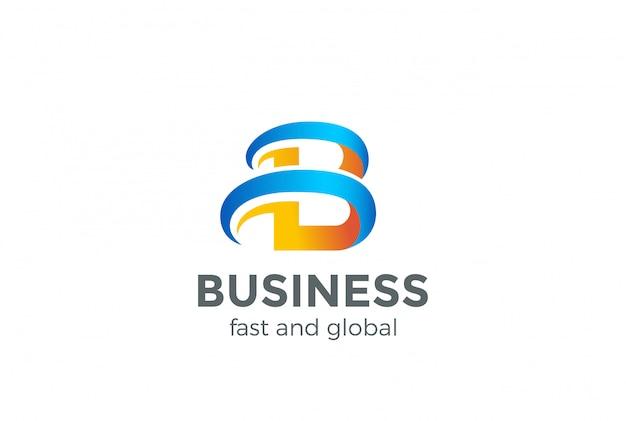 B logo letter abstrakte designvorlage. kreatives symbol. universe logotype für business technology web startup. Premium Vektoren
