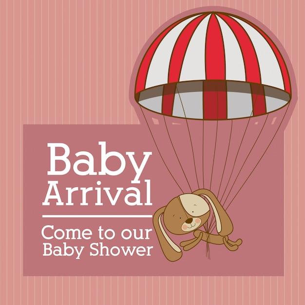 Baby ankunft Premium Vektoren
