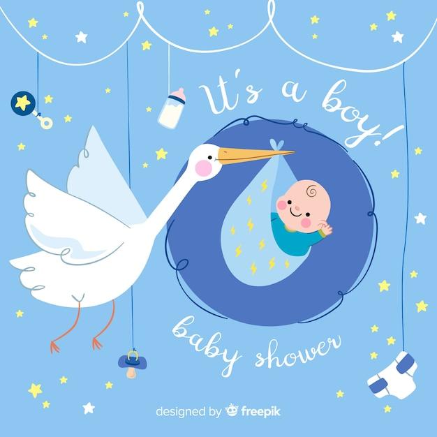 Baby-dusche-banner Kostenlosen Vektoren