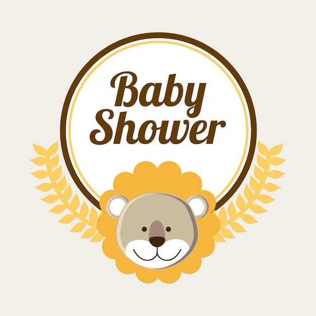 Baby-dusche-design Premium Vektoren