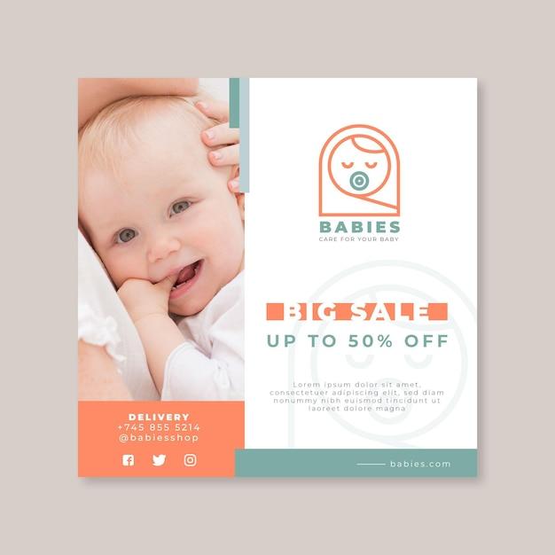 Baby flyer vorlage Kostenlosen Vektoren