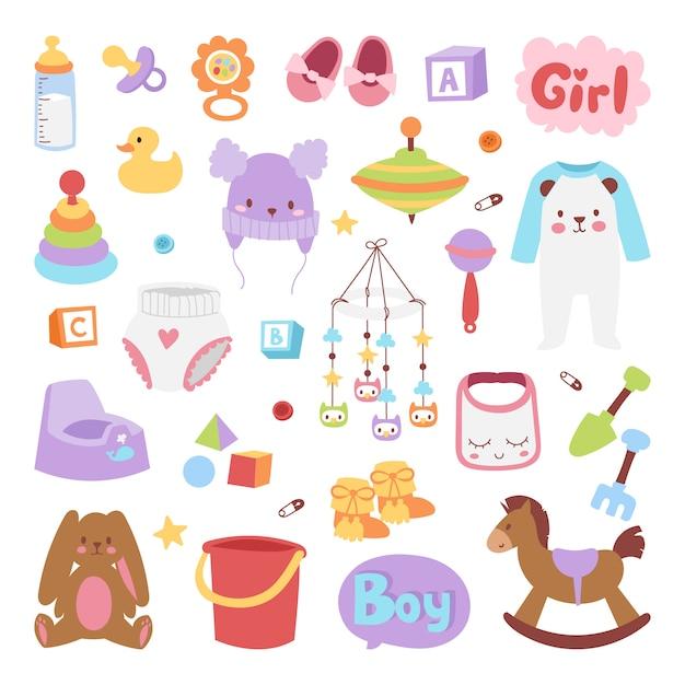 Baby-ikonen eingestellt. Premium Vektoren