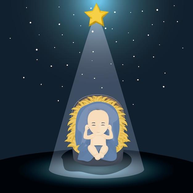 Frohe Weihnachten Jesus.Baby Jesus Cartoon Symbol Heilige Familie Und Frohe