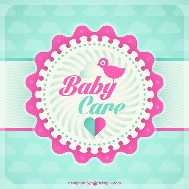 Baby-Karte-Vorlage | Download der kostenlosen Vektor