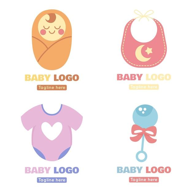 Baby logo pack Premium Vektoren