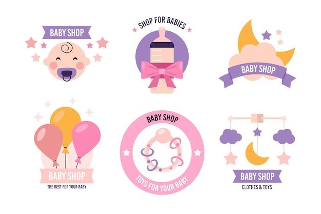 Baby logo sammlung vorlage Kostenlosen Vektoren
