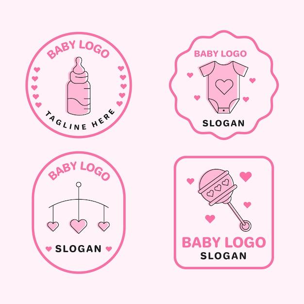 Baby logo sammlung vorlage Premium Vektoren