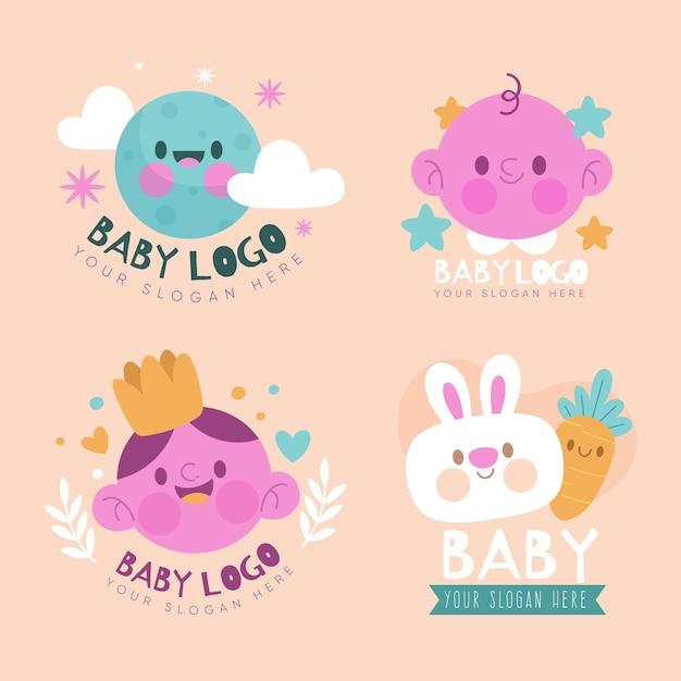 Baby-logo-sammlung Premium Vektoren