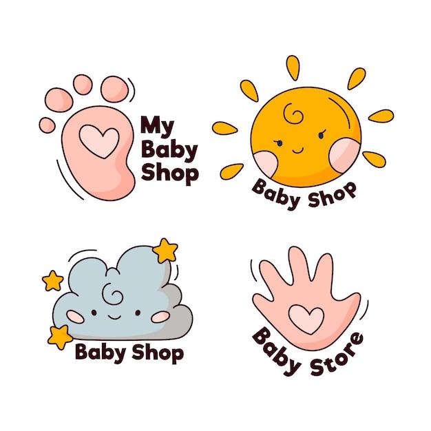Baby-logo-sammlung Kostenlosen Vektoren