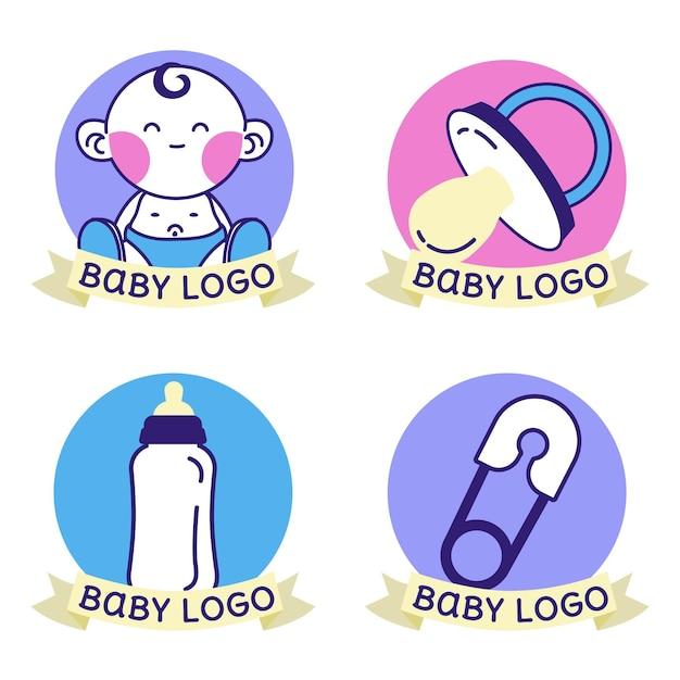 Baby-logo-set Premium Vektoren