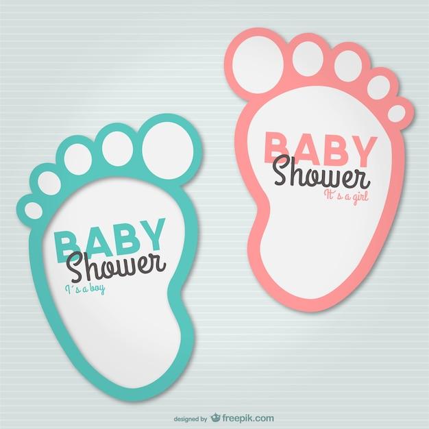 Baby-schritte-partyeinladung Kostenlosen Vektoren