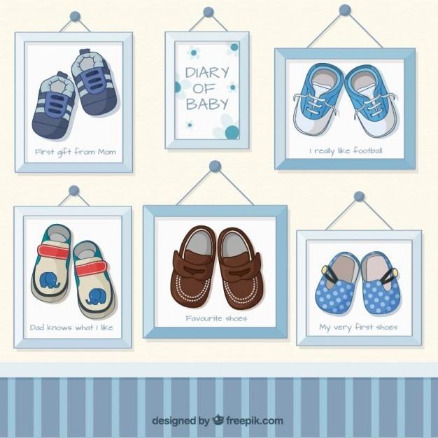 baby shoes bilder im rahmen download der kostenlosen vektor. Black Bedroom Furniture Sets. Home Design Ideas