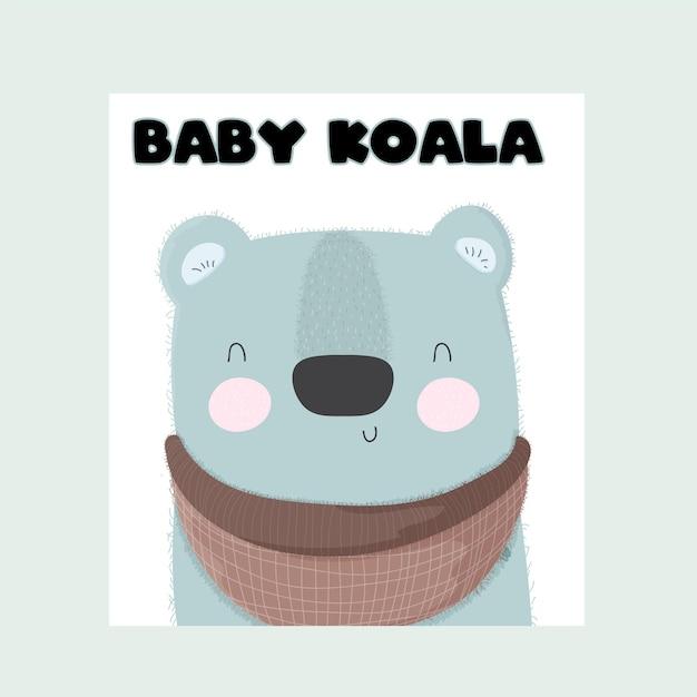 Baby tier koala süß Premium Vektoren