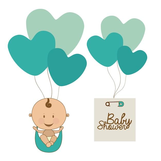 Babyankunft Premium Vektoren