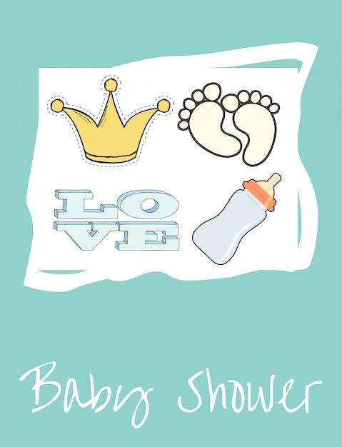 Babydusche | Download der Premium Vektor