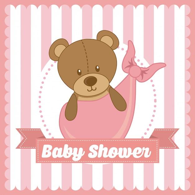 Babydusche Premium Vektoren