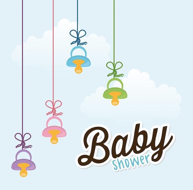 Babydusche Kostenlosen Vektoren
