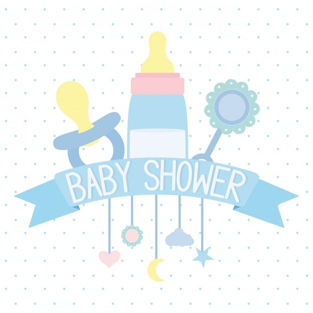 Babyflaschenmilch und zubehör Kostenlosen Vektoren