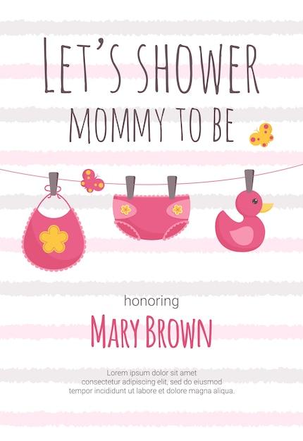 Babyparty einladungsvorlage Premium Vektoren