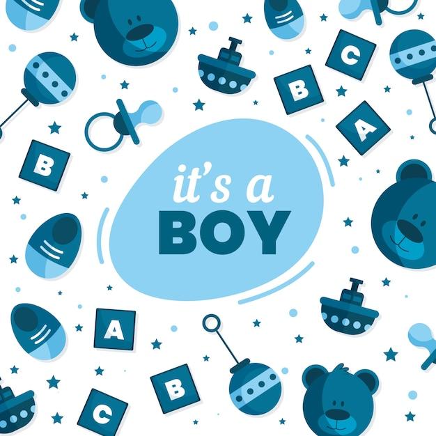 Babyparty für jungen Kostenlosen Vektoren