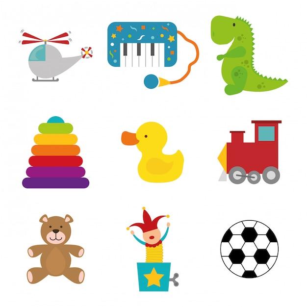 Babyspielzeug design. Premium Vektoren