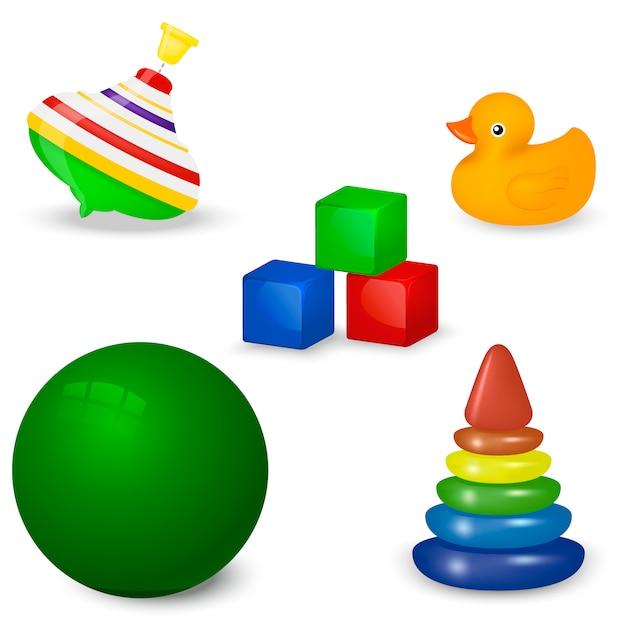 Babyspielzeug-set Premium Vektoren