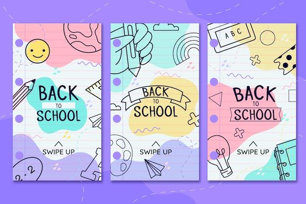 Back to school instagram geschichten Kostenlosen Vektoren