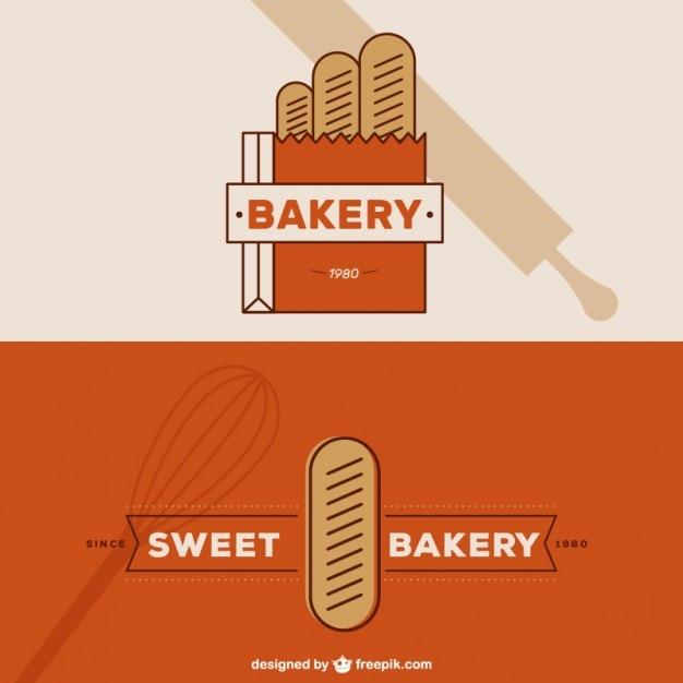 B ckerei logos in geradliniges design download der for Meine wohnung click design download