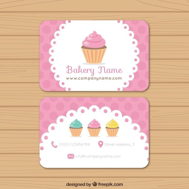 Bäckerei-Visitenkarte Premium Vektoren