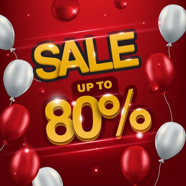 Backround-verkauf bis zu 80%, verkaufshintergrund für promotion. Premium Vektoren