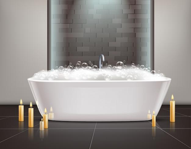 Badezimmer-innenarchitektur Kostenlosen Vektoren