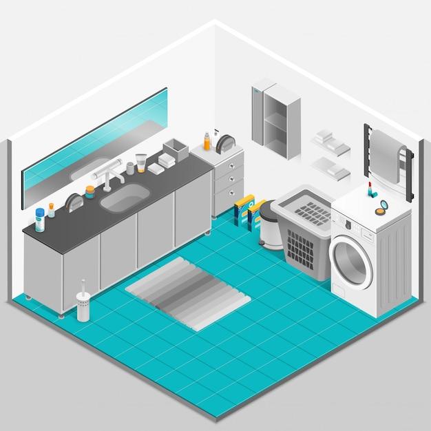 Badezimmer interior design Kostenlosen Vektoren