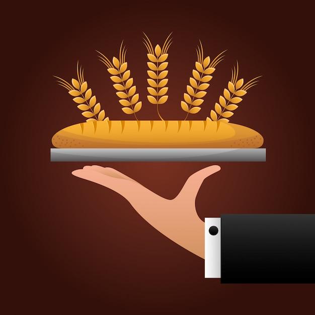 Bäckerei abbildung Kostenlosen Vektoren