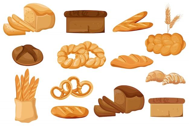 Bäckerei-auflistung Premium Vektoren