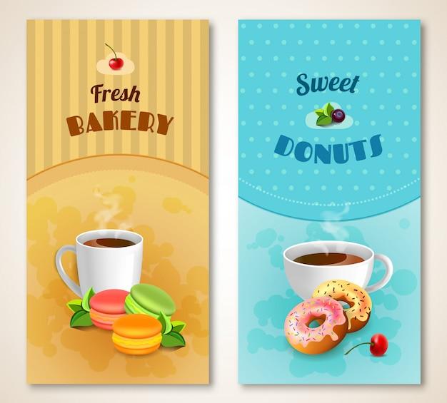 Bäckerei-banner-set Kostenlosen Vektoren