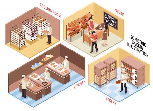 Bäckerei-design-konzept Kostenlosen Vektoren