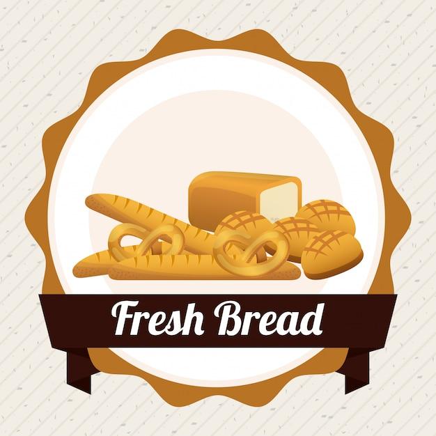Bäckerei design Kostenlosen Vektoren
