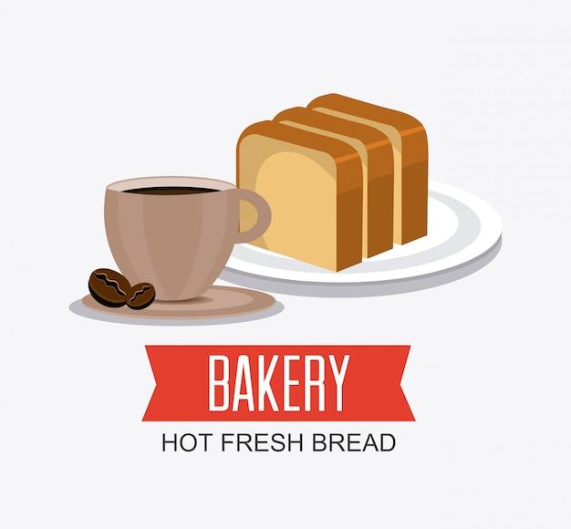Bäckerei, dessert und milchbar design. Kostenlosen Vektoren
