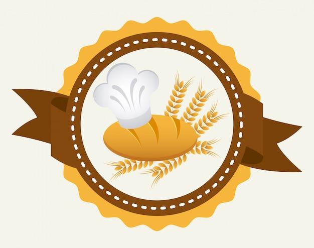 Bäckerei einfaches element Kostenlosen Vektoren