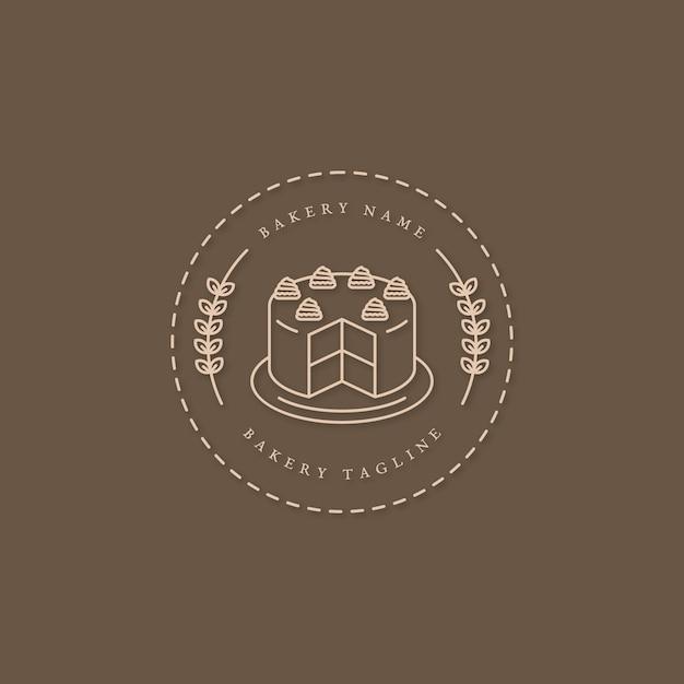 Bäckerei kuchen logo design mit kuchen Kostenlosen Vektoren