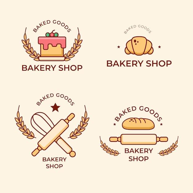Bäckerei kuchen logo sammlung Kostenlosen Vektoren