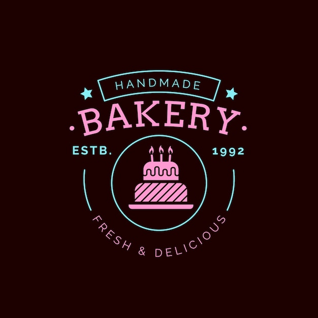 Bäckerei kuchen logo Kostenlosen Vektoren