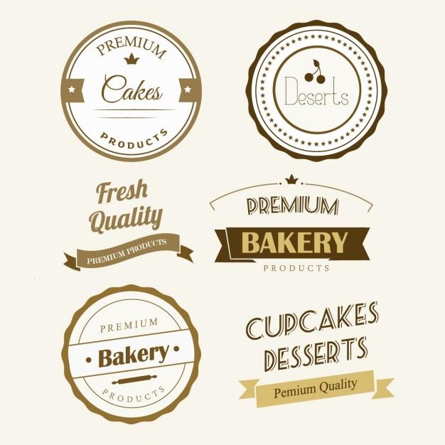 Bäckerei-label Kostenlosen Vektoren