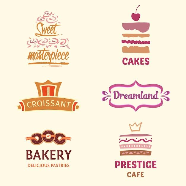 Bäckerei-logo-kollektion Kostenlosen Vektoren