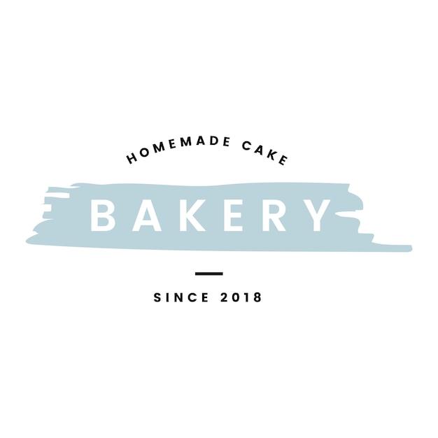 Bäckerei mit selbst gemachtem kuchenlogovektor Kostenlosen Vektoren