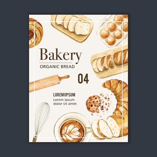 Bäckerei plakat vorlage. Kostenlosen Vektoren