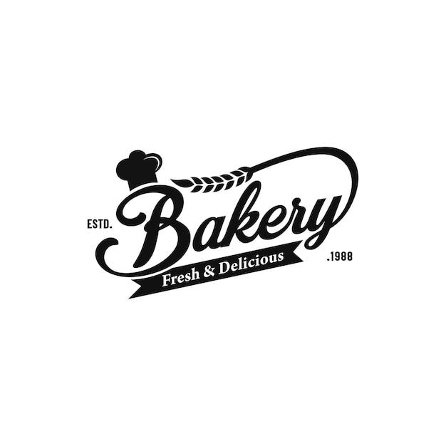 Bäckerei-vintages logo Premium Vektoren