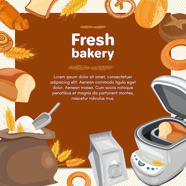 Bäckereiprodukte Premium Vektoren
