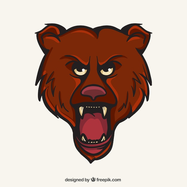 Bären-maskottchen Kostenlosen Vektoren