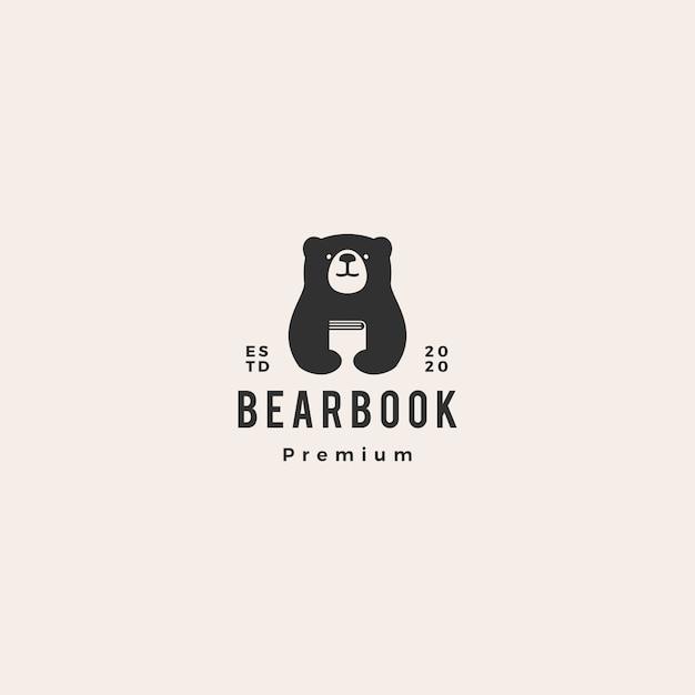 Bärenbuch-logo Premium Vektoren